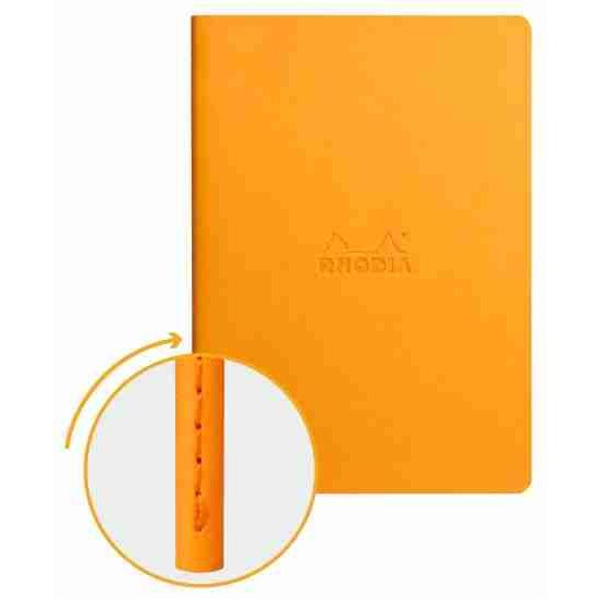 Cuaderno Rhodia de lomo cosido A5, color orange DOT