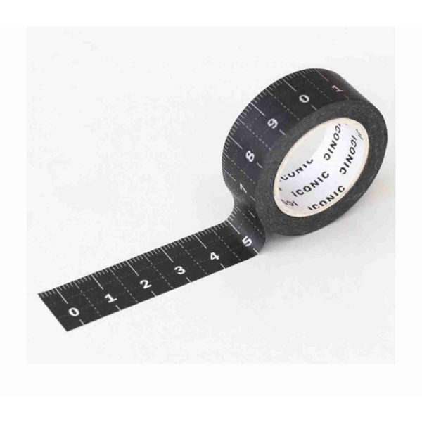 Masking tape 019 Ruler Black