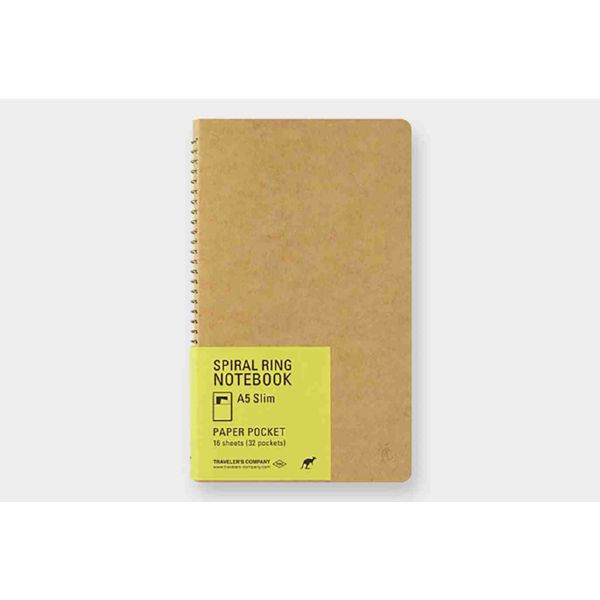 TRC SPIRAL RING NOTEBOOK A5 Paper Pocket